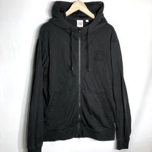 Lacoste men's black zip-up hoodie
